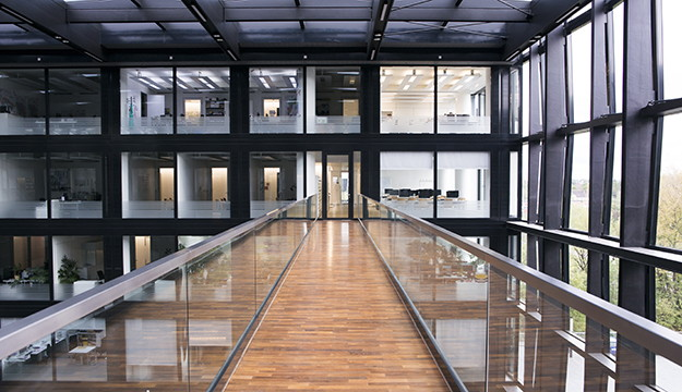 Atrium des Verlgsgebäudes der Süddeutschen Zeitung